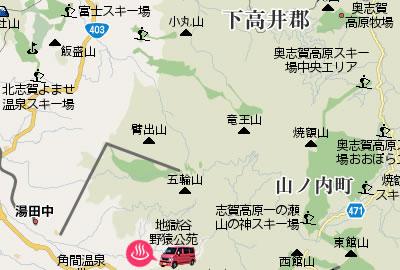 地獄谷野猿公苑MAP