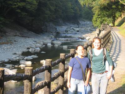 祖谷のかずら橋に近くの清流