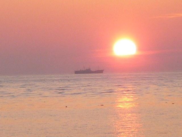 最北端の夕日