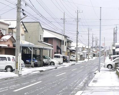 今年の積雪2