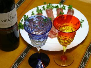 生ハムと赤ワイン