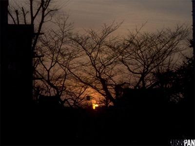 恵比寿の夕日