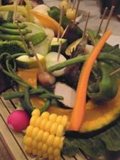 蒸し野菜の盛り合わせ