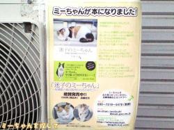 エアコン室外機の張り紙