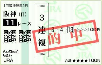 阪急杯3連複