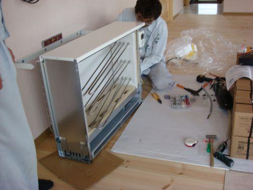 蓄熱暖房設置工事1