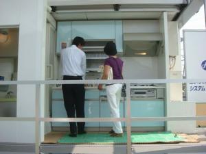 展示車両です!エア・ウォーター・エモトさんのお風呂と、ヤマハ産のキッチンが展示されています。