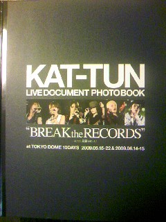 """KAT-TUNライブ・ドキュメント・フォトブック""""BREAK the RECORDS"""