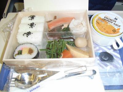 機内食(行き)