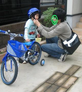 パパとサイクリング