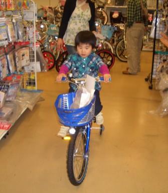 自転車試乗