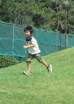 速い靴で走る