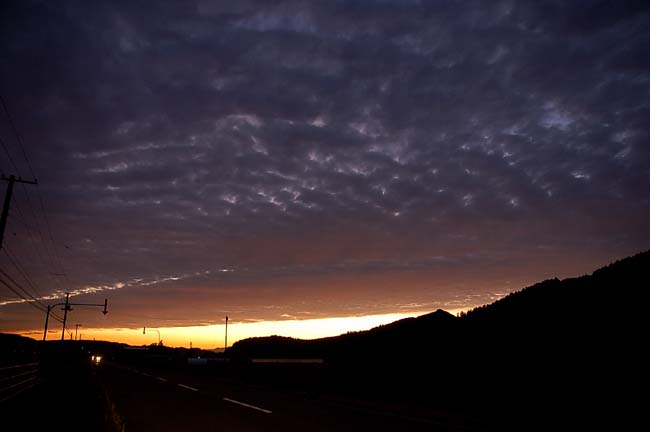 8月最後の夕陽
