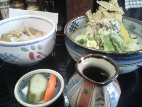 野菜天ぶっかけ+ミニカツ丼