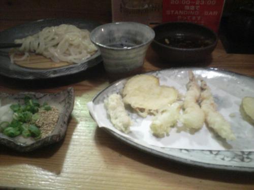 とばた麺之助1天ざるうどん1000円