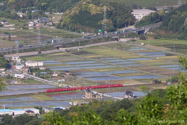 名鉄7000系@名電赤坂~名電長沢