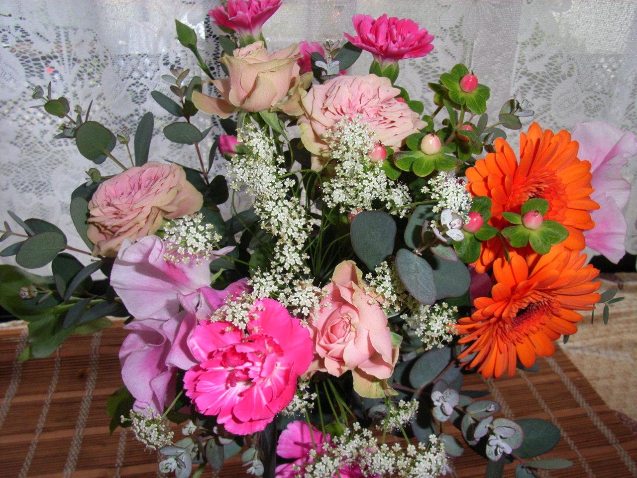 きれいなお花ありがとう