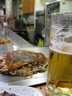 ビールとお好み焼き7.16