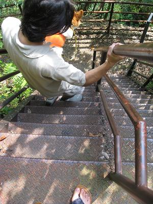 急な階段9.6