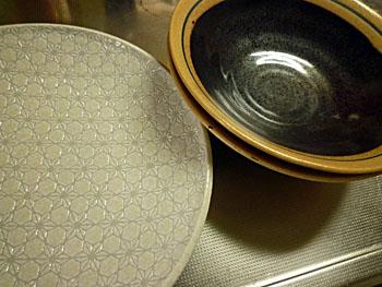 麻の葉柄のお皿と鉢