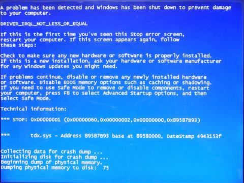 Windows7 BSOD