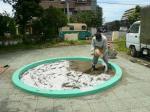 抗菌砂 散布
